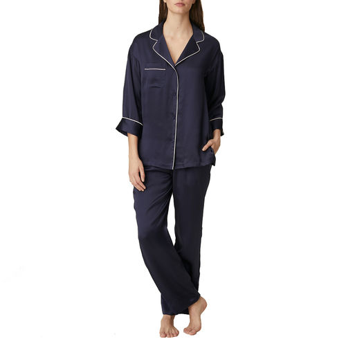 Marie Jo Sakura silk pyjamas evening blue